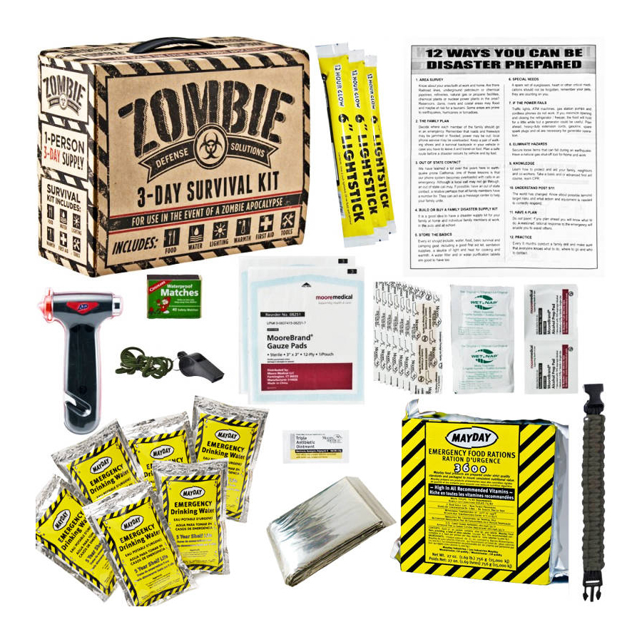 Every Day Carry Zombie 3 Day Survival   Disaster Preparedness Kit 5 Year Storage by Every Day Carry
