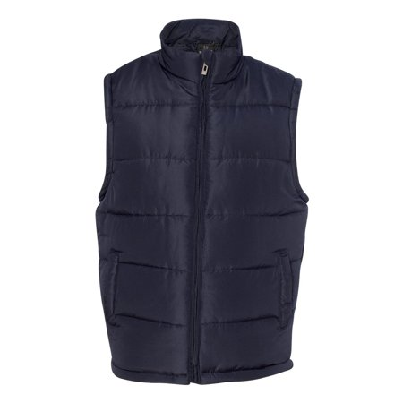 Burnside Men's Puffer Vest, Style 8700](blanc noir puffer vest)