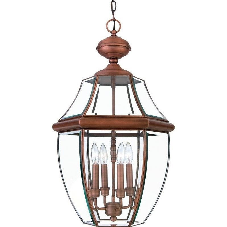 Atlin Designs Extra Large Hanging Lantern in Aged Copper by