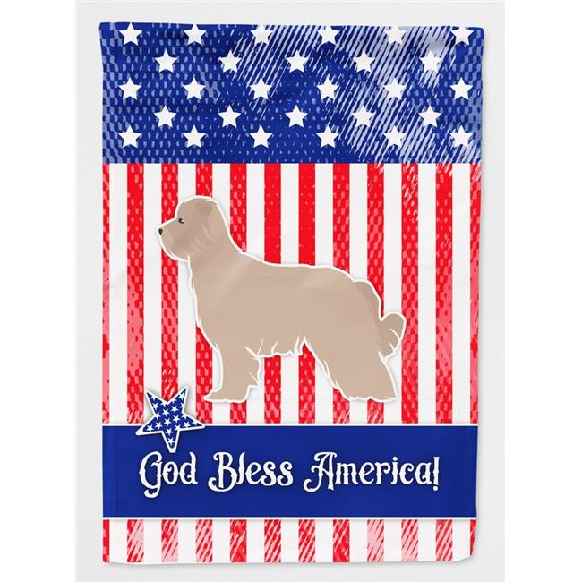 Carolines Treasures BB3318GF USA Patriotic Pyrenean Shepherd Flag Garden Size - image 1 of 1