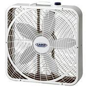 """Lasko 20"""" 3-Speed Weather Shield Performance Box Fan w/ Easy Carry Handle, White"""