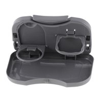 Gray Plastic Foldable Multifunctional Meal Portable Travel Dining for Car