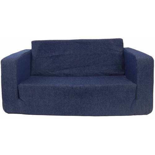 Toddler Flip Sofa, Red Micro by Fun Furnishings