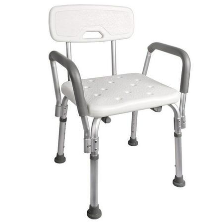 Zimtown Adjustable Medical Shower Chair Bathtub Bench Bath Seat Stool Armrest Back (Euro Style Bath Stool)