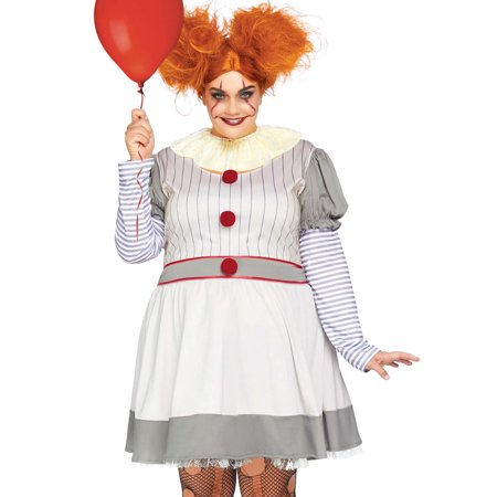 Make Your Own Halloween Clown Costume (Plus Size Creepy Clown Evil Halloween Roleplay)