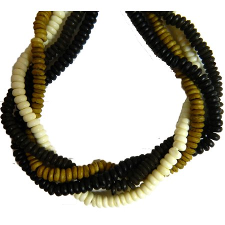 "4x6mm Rondelle 4 Color Mix Genuine Bone, Loose Beads, Aprx 60"" Strand 500, Loose Beads,"