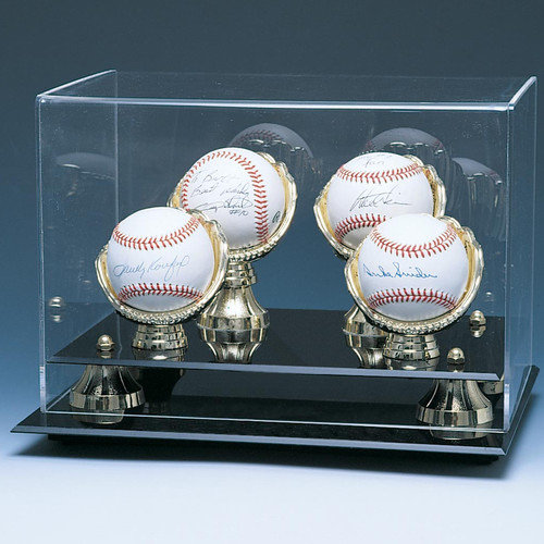 Caseworks International Four Baseball Gold Gloves and Risers