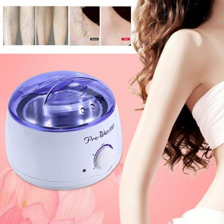 LAFGUR Pro Wax Kit Heater Pot Salon Waxing Hair Removal w/ 100g Brazilian Hot Wax Bean(Chocolate),Pro Wax Kit Heater Pot Salon Waxing Hair