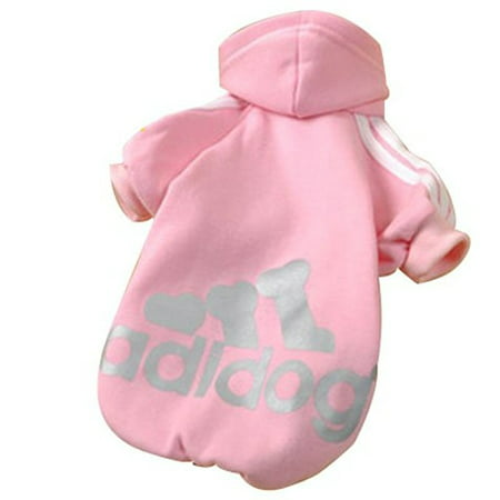 Pet Puppy Dog Cat Coat Clothes Hoodie Sweater Costumes Pink L - Cat Costume For A Dog