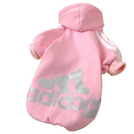 Pet Puppy Dog Cat Coat Clothes Hoodie Sweater Costumes Pink L (Dogs In Costumes)