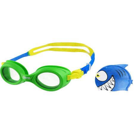 Storm Lil Swimmer Swim Cap and Goggles Set - Cap And Goggles