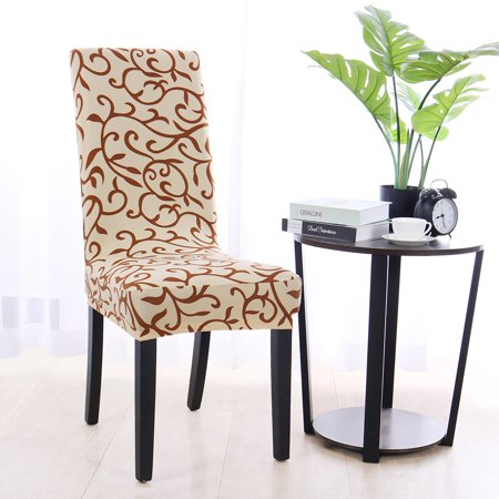 4pcs Dining Chair Cover Pattern Stretch Bar Stool Slipcover Kitchen Chair Protector