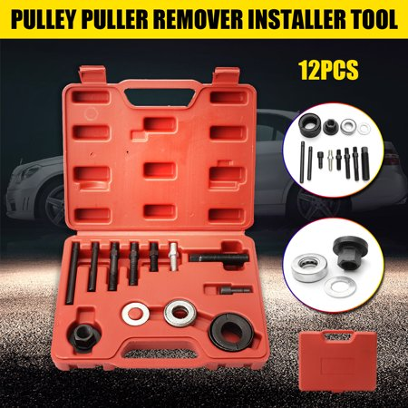 - 12Pcs Pulley Puller Installer Power Steering Pump Remover for Most Vehicles Power Steering Alternators