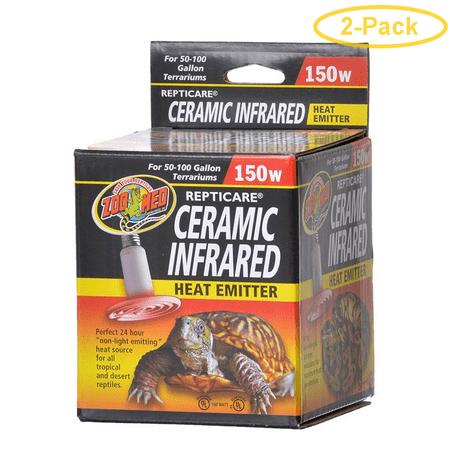 Zoo Med ReptiCare Ceramic Infrared Heat Emitter 150 Watts - Pack of 2 - Emitter Ceramic Coil