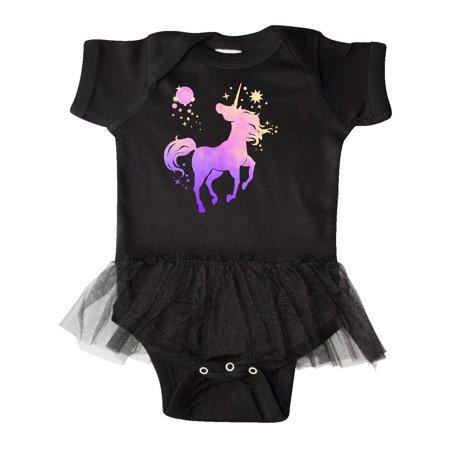 Unicorn silhouette with stars Infant Tutu Bodysuit Silhouette Infant Bodysuit