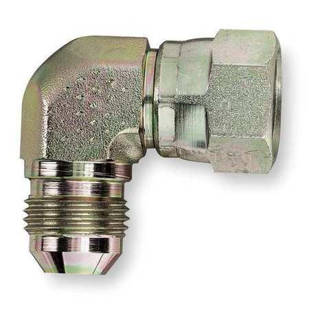 EATON 2071-6-6S Hose Adapter, JIC, 90 Degree Elbow, Swivel