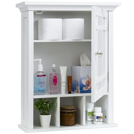 Best Choice Products Home Bathroom Vanity Mirror Wall Organizational Storage Medicine Cabinet, White