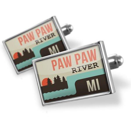 - Cufflinks USA Rivers Paw Paw River - Michigan - NEONBLOND