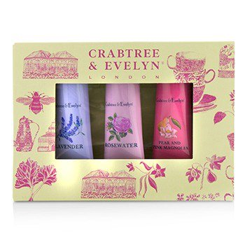 Florals Hand Therapy Set (1x Pear and Pink Magnolia, 1x Rosewater, 1x Lavender) 0.9oz