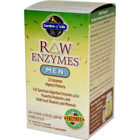 Garden of Life  RAW Enzymes  Men  90 Veggie Caps (Raw Enzyme Spa)