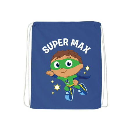 - Personalized Super Why To The Rescue Blue Drawstring Bag