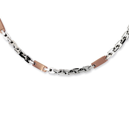 Jewelryweb Stainless Steel Chocolate color IP-plated Necklace - 24 Inch