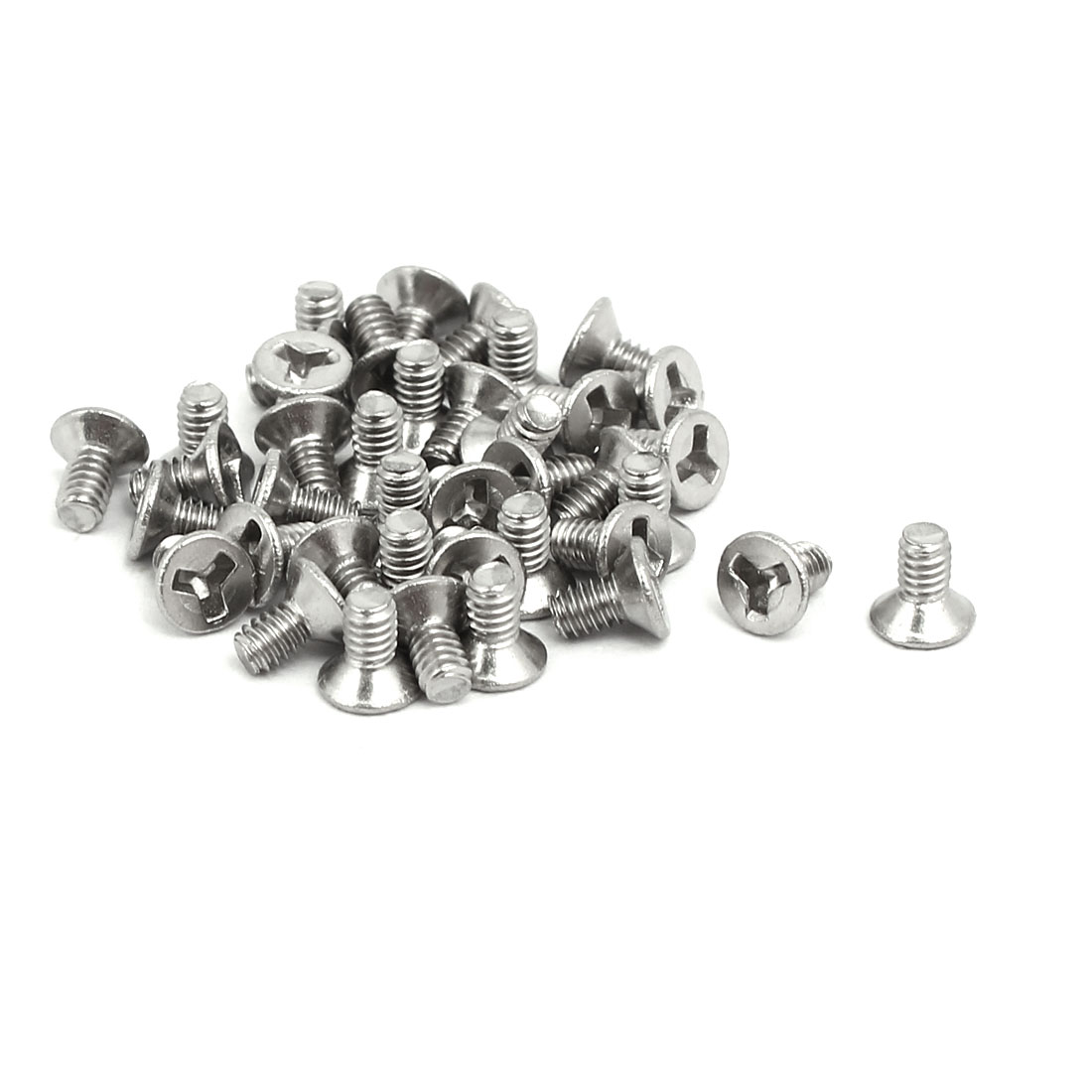 M2x4mm 304 Stainless Steel Y Type Socket Flat Head Tamper Proof Screws 40pcs - image 2 de 2