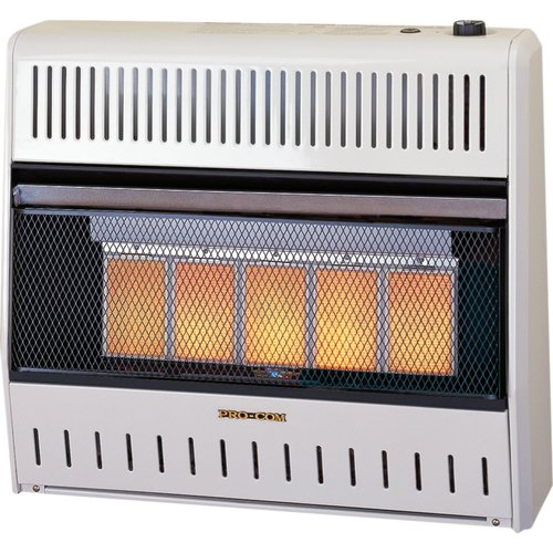 ProCom Dual Fuel Ventless 30,000 BTU Natural Gas Propane Infrared Wall Mounted Heater by Pro-Com Heating Inc