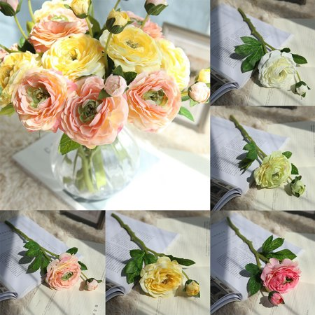 Fake Tea (HiCoup 1Pc Artificial Tea Rose Fake Flowers Leaf Home Wedding Party Festival)