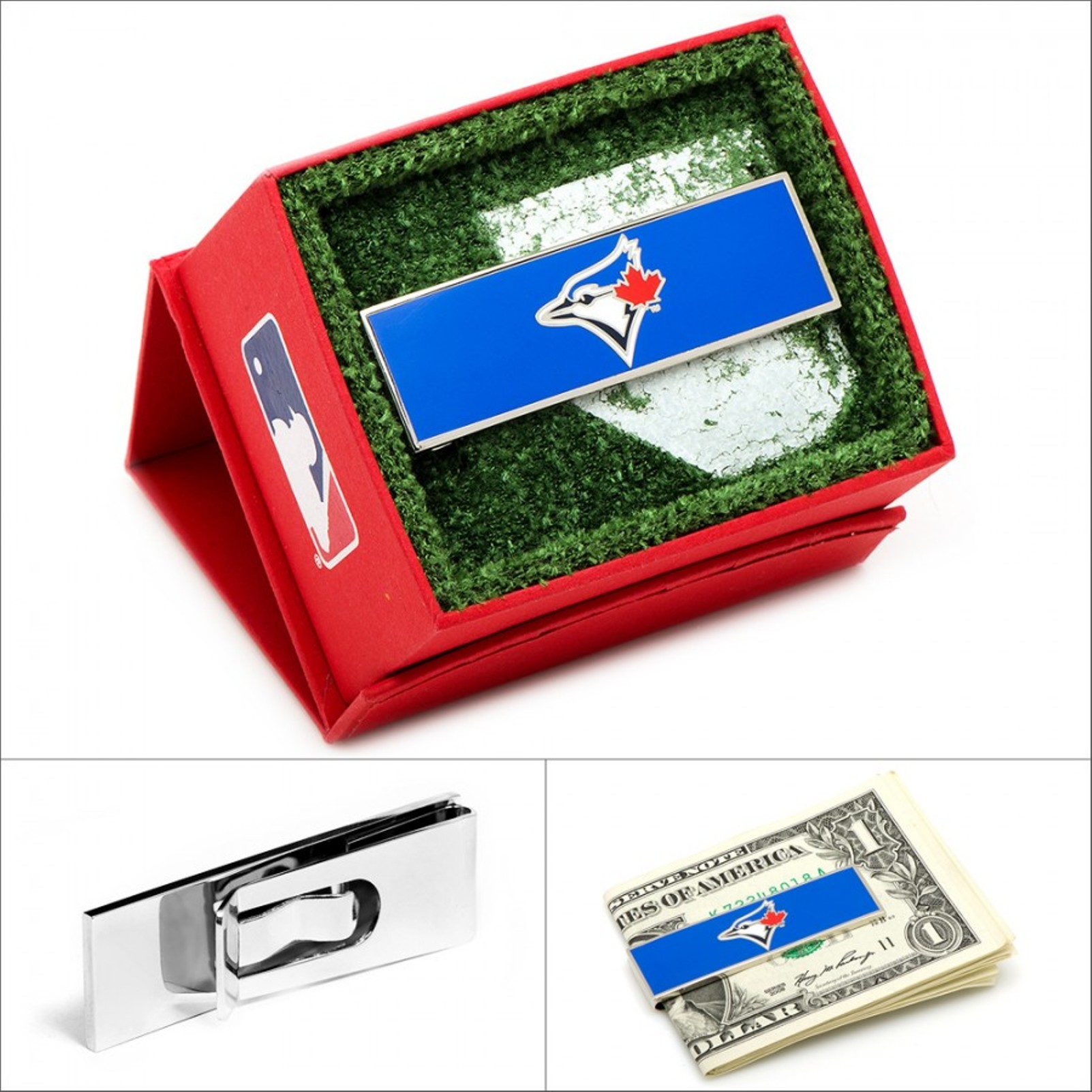 MLB Mens Toronto Blue Jays Money Clip with Collectible Gift Box PD-BJS2-MC NEW