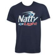 Natty Light Classic Logo Men's Navy Blue T-Shirt