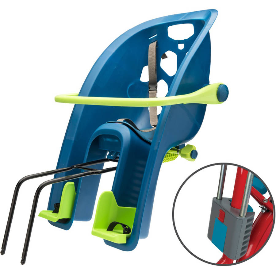 Bell Sports Super Shell 3-in-1 Rear Child Carrier Bicycle Seat, Teal Blue