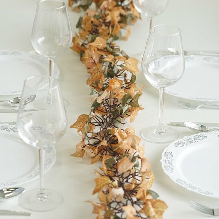 Efavormart 6 FT Artificial Fall Ivy Garland Foliage For Wedding Arch Gazebo Home D�cor