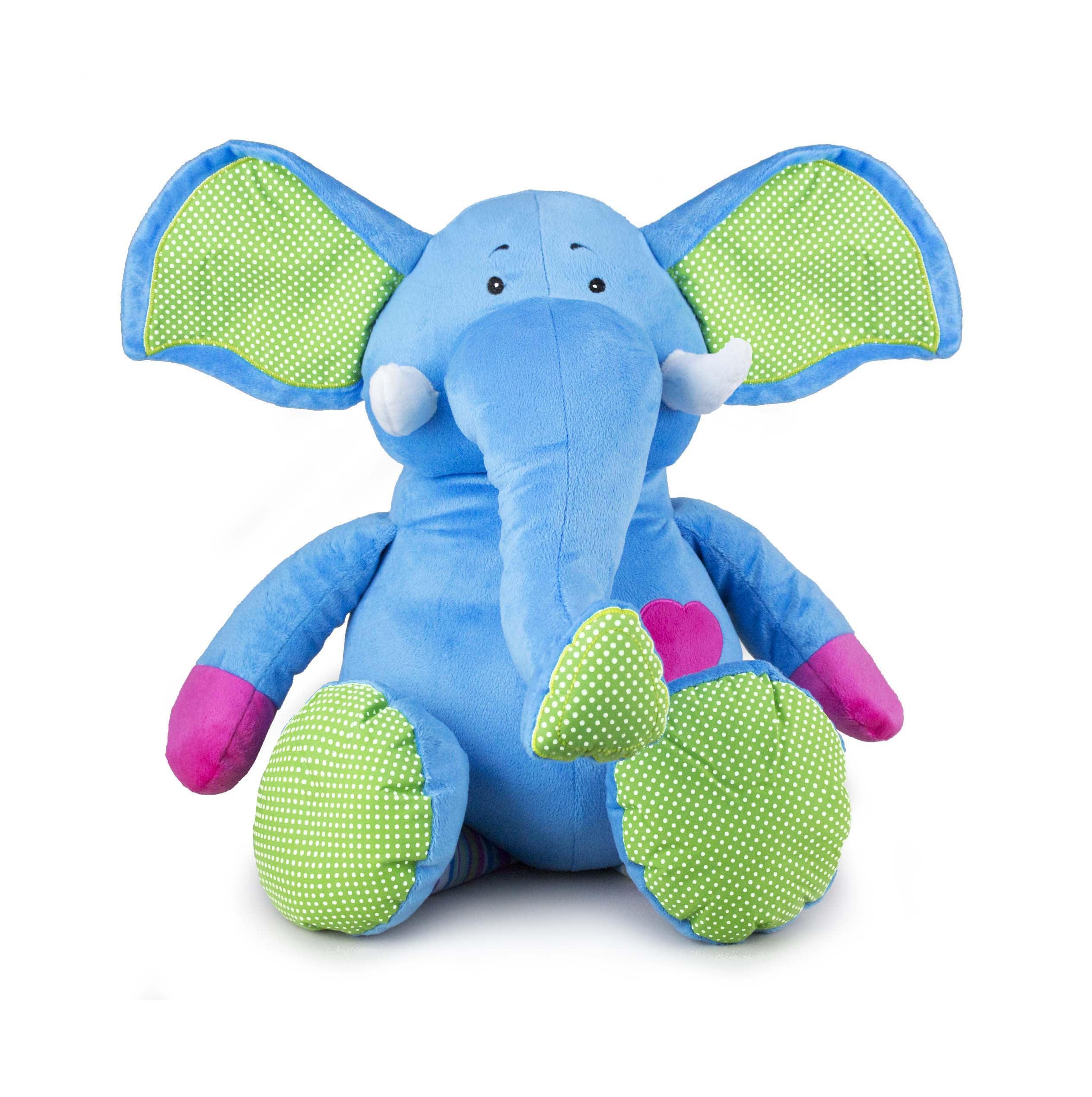 Beverly Hills Teddy Bear Company Bright Striped Elephant by
