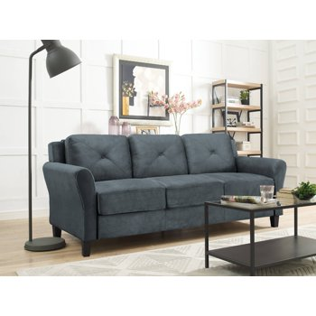 Lifestyle Solutions Taryn Rolled Arm Fabric Sofa