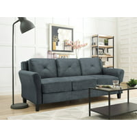 Deals on Lifestyle Solutions Taryn Rolled Arm Fabric Sofa