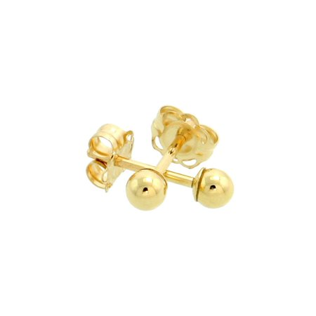 10k Yellow Gold 3mm Ball Earrings / Cartilage Nose Studs