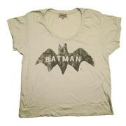 Batman DC Comics Logo Junk Food Originals Vintage Style Soft Scoop Jrs T-Shirt