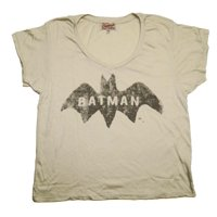 Batman DC Comics Logo Junk Food Originals Vintage Style Soft Scoop Jrs T-Shirt