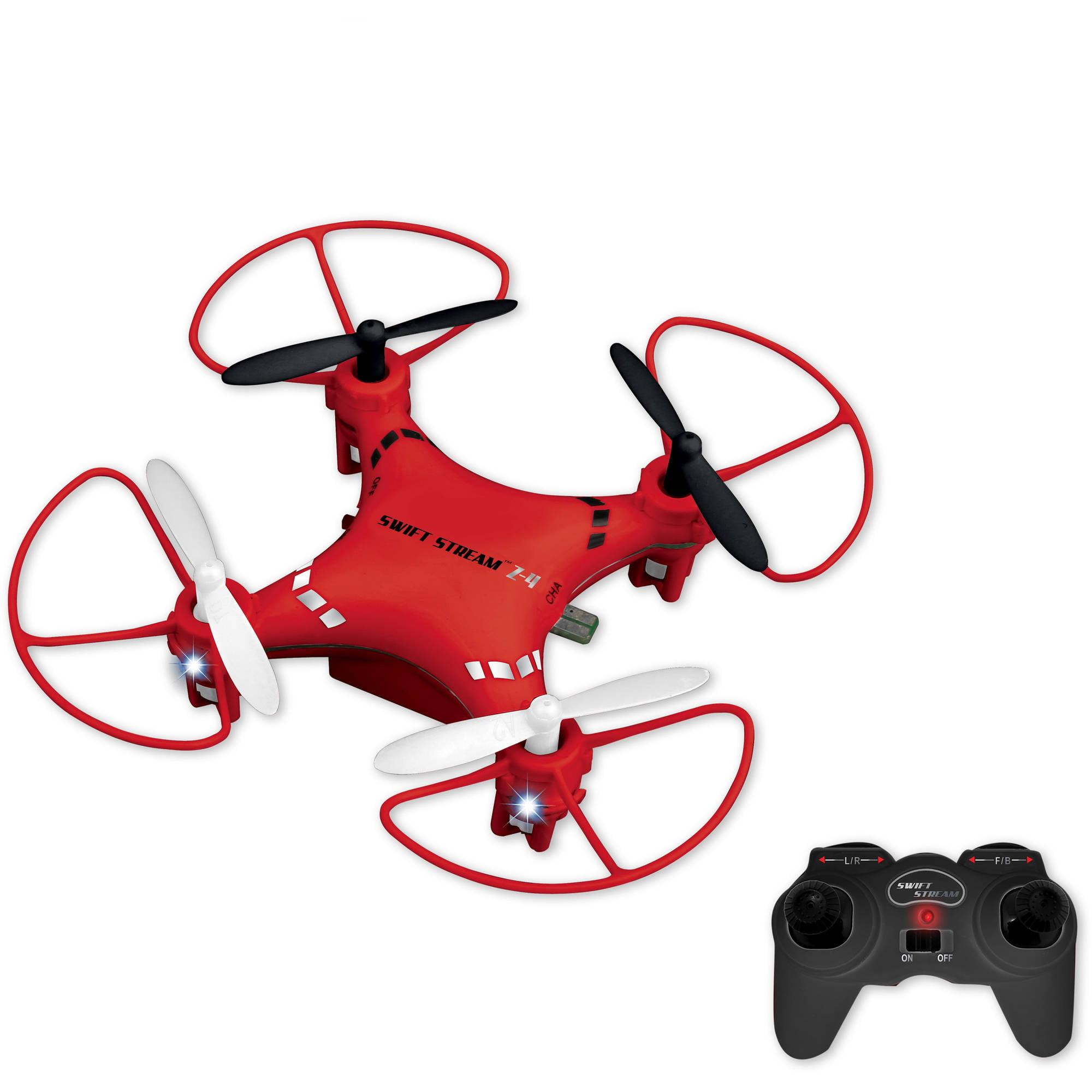 Abrim Enterprises, Inc. Swift Stream Z - 4 Remote Control 3 Mini Drone, Red