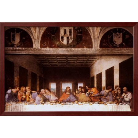 Last Supper Framed Art Print Wall Art  - 38x26