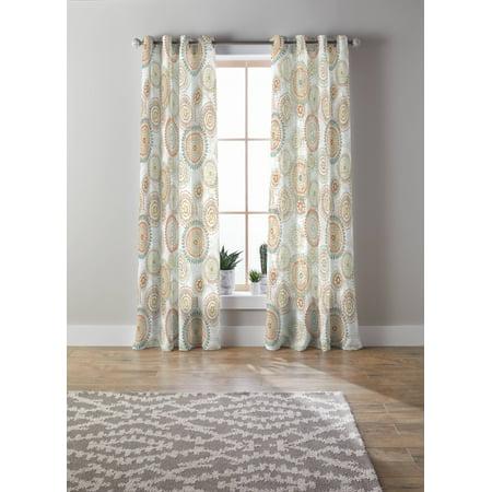 Better Homes & Gardens Rambling Medallion Printed Sheer Window Curtain Panel ()