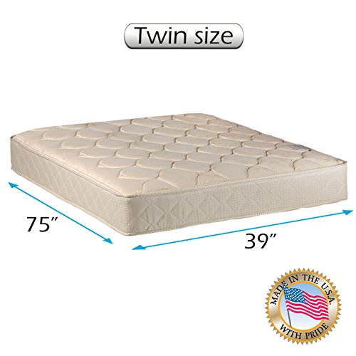 "Comfort Classic Gentle Firm (Twin - 39""x 75""x9"") Mattress Only - Fully Assembled, Orthopedic, Good for your back, Superior Quality - Long Lasting and 2 Sided by Dream Solutions USA"