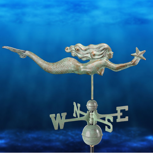 Mermaid with Starfish Weathervane