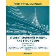 Student Solutions Manual Advanced Engineering Mathematics, Volume 2 (Paperback)