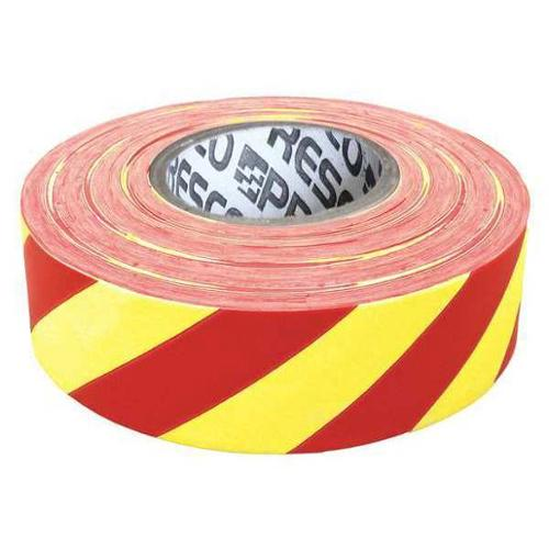 PRESCO PRODUCTS CO SWR-373 Flagging Tape,White/Red,300ft x 1-3/8 In