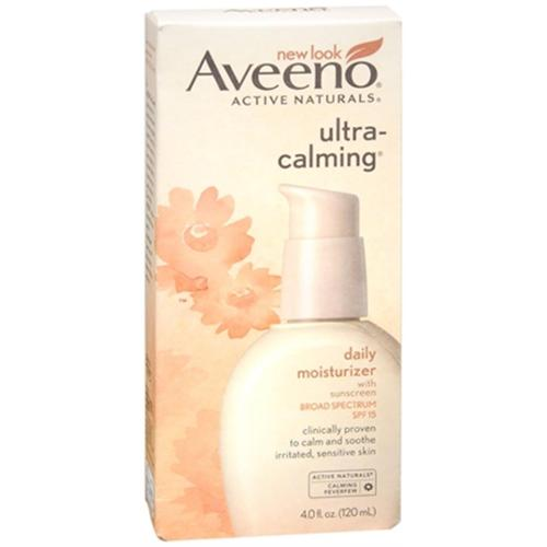 AVEENO Active Naturals Ultra-Calming Daily Moisturizer SPF 15 4 oz (Pack of 3)