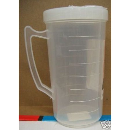 128 Ounce Pitcher - 16 ounce Plastic Pitcher with Covered and Pour Spout