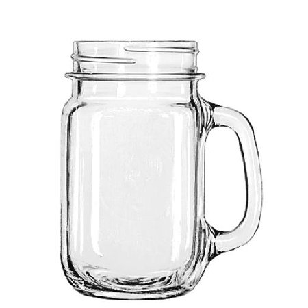 Plastic Drinking Jar (Libbey 97084 16 oz. Handled Drinking Jar, Case of)