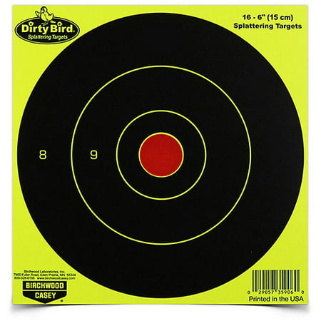 Birchwood Casey Dirty Bird Chartreuse Bull's Eye Target